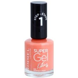 Rimmel Super Gel By Kate géles körömlakk UV/LED lámpa használata nélkül árnyalat 031 Perfect Posy 12 ml