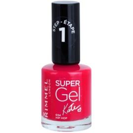 Rimmel Super Gel By Kate żelowy lakier do paznokci bez konieczności użycia lampy UV/LED odcień 034 Hip Hop 12 ml