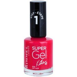 Rimmel Super Gel By Kate géles körömlakk UV/LED lámpa használata nélkül árnyalat 034 Hip Hop 12 ml