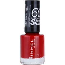 Rimmel 60 Seconds Super Shine lak na nehty odstín 310 Double Decker Red 8 ml