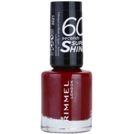 Rimmel 60 Seconds Super Shine esmalte de uñas tono 321 It's The Cherry On Top 8 ml