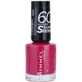 Rimmel 60 Seconds Super Shine lac de unghii culoare 323 Funtime Fuchsia 8 ml