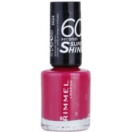 Rimmel 60 Seconds Super Shine esmalte de uñas tono 323 Funtime Fuchsia 8 ml