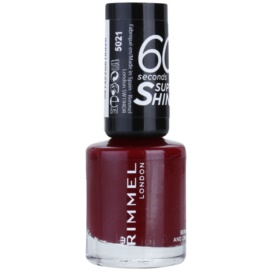 Rimmel 60 Seconds Super Shine lac de unghii culoare 340 Berries And Cream 8 ml