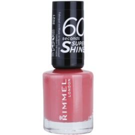 Rimmel 60 Seconds Super Shine lac de unghii culoare 405 Rose Libertine 8 ml