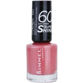 Rimmel 60 Seconds Super Shine esmalte de uñas tono 405 Rose Libertine 8 ml