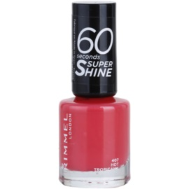 Rimmel 60 Seconds Super Shine lac de unghii culoare 407 Hot Tropicana 8 ml