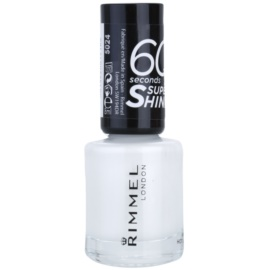 Rimmel 60 Seconds Super Shine esmalte de uñas tono 703 White Hot Love 8 ml