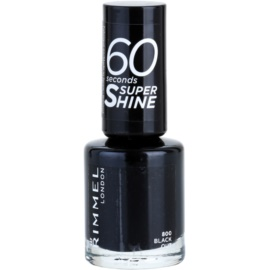 Rimmel 60 Seconds Super Shine lac de unghii culoare 800 Black Out 8 ml