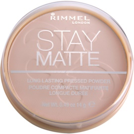 Rimmel Stay Matte puder odcień 002 Pink Blossom  14 g