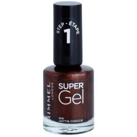 Rimmel Super Gel Step 1 gelový lak na nehty bez užití UV/LED lampy odstín 014 Hottie Choccie 12 ml