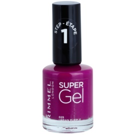 Rimmel Super Gel Step 1 gelový lak na nehty bez užití UV/LED lampy odstín 025 Urban Purple 12 ml