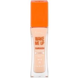 Rimmel Wake Me Up rozjasňujúci tekutý make-up SPF 20 odtieň 100 Ivory  30 ml