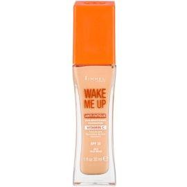 Rimmel Wake Me Up rozjasňujúci tekutý make-up SPF 20 odtieň 203 True Beige  30 ml