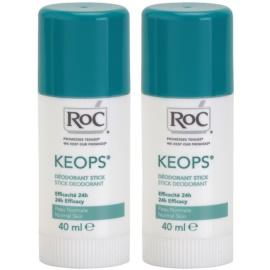 RoC Keops tuhý dezodorant 24h  2x40 ml
