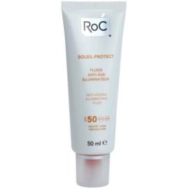 RoC Soleil Protect ochranný rozjaňující fluid proti stárnutí pleti SPF50  50 ml
