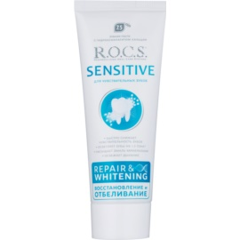 R.O.C.S. Sensitive Repair & Whitening remineralisierende Zahncreme für empfindliche Zähne  75 ml