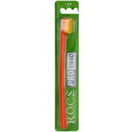 R.O.C.S. PRO 5940 cepillo de dientes suave Orange & Yellow
