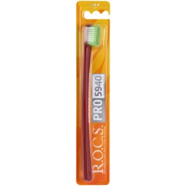 R.O.C.S. PRO 5940 cepillo de dientes suave Dark Red & Green