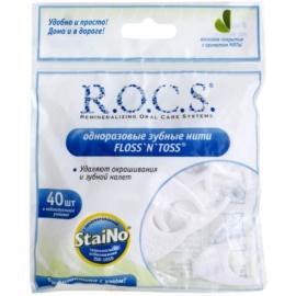 R.O.C.S. StaiNo jednorázová dentální nit v držáku  40 ks