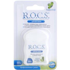 R.O.C.S. StaiNo voskovaná dentální nit příchuť Mint 50 m