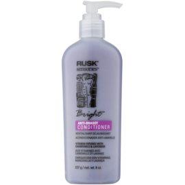 Rusk Sensories Bright acondicionador para cabello rubio y canoso neutralizante para tonos amarillos  sin parabenos  227 g