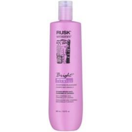 Rusk Sensories Bright champô para cabelos cinzentos e loiros neutraliza tons amarelados  400 ml