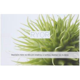 RYOR Depilation and Shaving bandas de cera fria para depilação corporal fácil e rápida  10 un.
