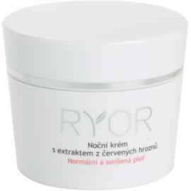 RYOR Normal to Combination noční krém s extraktem z červených hroznů  50 ml