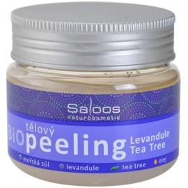 Saloos Bio Peeling tělový peeling levandule a tea tree  140 ml