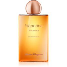 Salvatore Ferragamo Signorina Misteriosa gel de dus pentru femei 200 ml