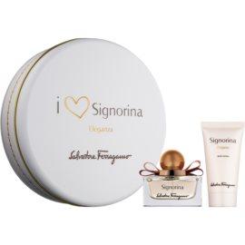 Salvatore Ferragamo Signorina Eleganza подаръчен комплект V.  парфюмна вода 30 ml + мляко за тяло 50 ml