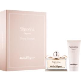 Salvatore Ferragamo Signorina Eleganza zestaw upominkowy IX.  mleczko do ciała 100 ml + woda perfumowana 100 ml