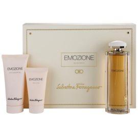 Salvatore Ferragamo Emozione lote de regalo I.  eau de parfum 90 ml + leche corporal 50 ml + gel de ducha 100 ml