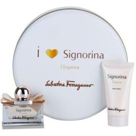 Salvatore Ferragamo Signorina Eleganza set cadou V.  Eau de Parfum 30 ml + Lotiune de corp 50 ml