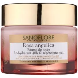 Sanoflore Rosa Angelica crema de noche hidratante con efecto regenerador  50 ml