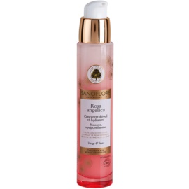 Sanoflore Rosa Angelica rozjasňující hydratační sérum na obličej a oči  30 ml