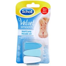 Scholl Velvet Smooth Ersatzköpfe für elektrische Nagelfeile 3 pc  3 St.