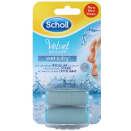 Scholl Velvet Smooth Replacement Heads for Waterproof Electric Foot File 2 pcs  2 pc