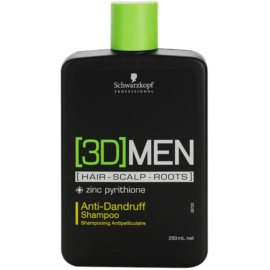Schwarzkopf Professional [3D] MEN Shampoo  tegen Roos   250 ml