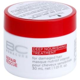 Schwarzkopf Professional BC Bonacure Repair Rescue nährende Tiefenpflege für beschädigtes Haar  30 ml