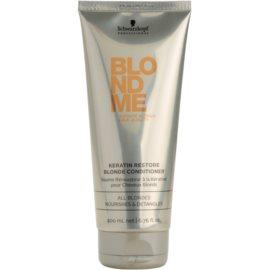 Schwarzkopf Professional Blondme keratin kondicionáló szőke hajra  200 ml