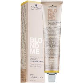 Schwarzkopf Professional Blondme posvetlitvena krema odtenek H - Warm Gold  60 ml
