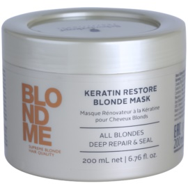 Schwarzkopf Professional Blondme відновлююча маска з кератином для освітленого волосся  200 мл