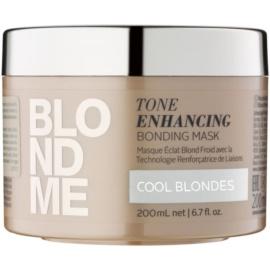Schwarzkopf Professional Blondme nährende Haarmaske für kalte Blondtöne  200 ml