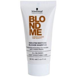 Schwarzkopf Professional Blondme keratynowy szampon regenerujący do włosów blond  30 ml