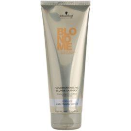 Schwarzkopf Professional Blondme champô reforçador para tons loiros frios de cabelo   250 ml