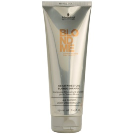 Schwarzkopf Professional Blondme regenerierendes Keratin Shampoo für blonde Haare  250 ml