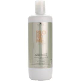 Schwarzkopf Professional Blondme pH neutralizační keratinový šampon pro blond vlasy  1000 ml