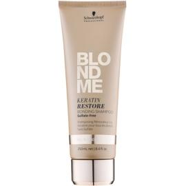 Schwarzkopf Professional Blondme obnovující šampon s keratinem pro všechny typy blond vlasů bez sulfátů  250 ml